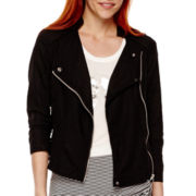 a.n.a® 3/4-Sleeve Cropped Moto Jacket - Tall