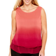 Worthington® Tiered Tank Top - Plus