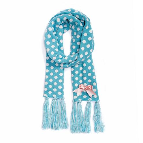 Muk Luks Polka Dot Oblong Knit Cold Weather Scarf