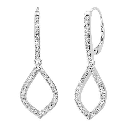 3/4 CT. T.W. White Diamond 14K Gold Drop Earrings