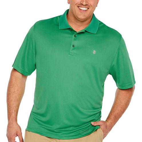 IZOD Short Sleeve Champion Golf Grid Jacquard Polo Shirt- Big & Tall