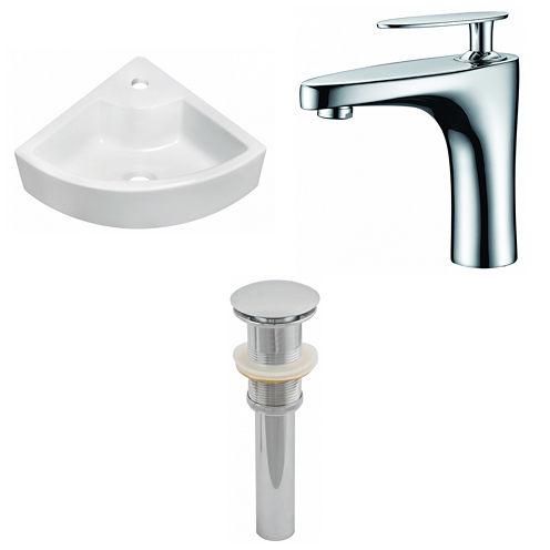American Imaginations Above Counter Ceramic Irregular Vessel Sink