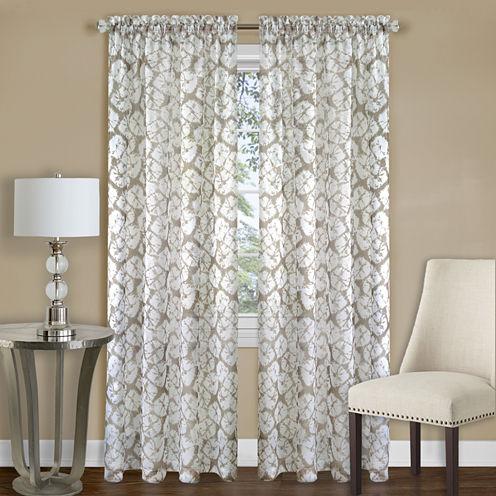 Batik Rod-Pocket Curtain Panel