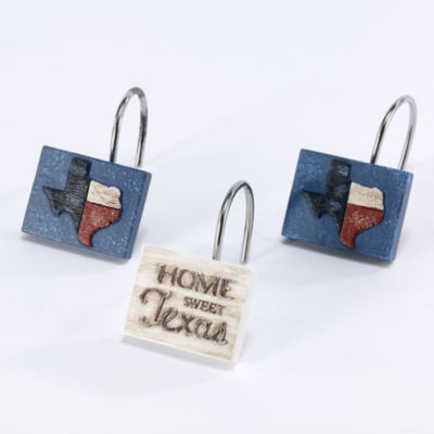 Avanti Home Sweet Texas Shower Curtain Hooks