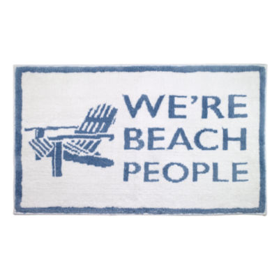 Avanti Beach Words Bath Rug