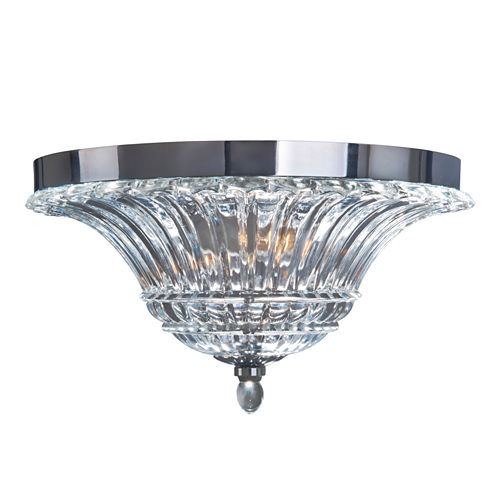 Elegant Designs 2 Light Glass Ceiling Light Glacier Petal Flushmount