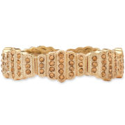 Monet® Gold-Tone Brown Stone Stretch Bracelet