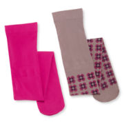Little Maven™ by Tori Spelling 2-pk. Printed Tights - Girls 12m-6y
