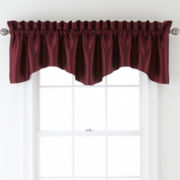 Sutton Place Antique Satin Rod-Pocket Valance