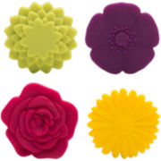 Zak Designs® 4-pc. Adjustable Flower Trivet Set