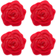 Zak Designs® 4-pc. Adjustable Rose Trivet Set