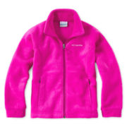 Columbia® Benton Springs™ Full-Zip Pink Fleece Jacket - Girls 4-18