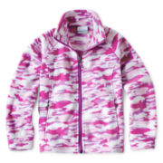 Columbia® Benton Springs™ Full-Zip Pink Camo Fleece Jacket - Girls 4-18