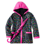 Fantasia Rain Slicker and Umbrella - Girls 4-6X