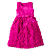 Princess Faith Sleeveless Flower Applique-Skirt Dress – Girls 7-12