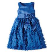 Princess Faith Sleeveless Flower Applique-Skirt Dress – Girls 7-12