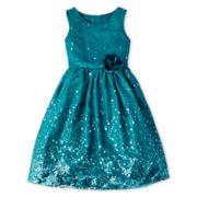 Princess Faith Sleeveless Sequin Dress – Girls 7-12