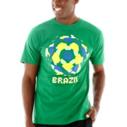 adidas® Brazil Ball Boom World Cup Tee