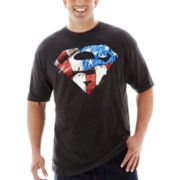 Distressed Superman™ Shield Tee–Big & Tall