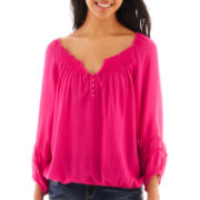 Arizona 3/4-Sleeve Peasant Top