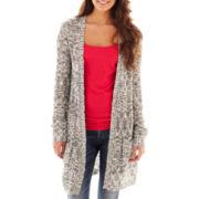 Arizona 3/4-Sleeve Marled Duster Cardigan - Plus