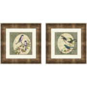 Botanical Magazine Set of 2 Framed Wall Art