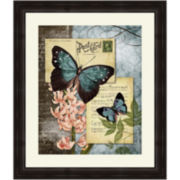 Butterfly Carrier I Framed Wall Art