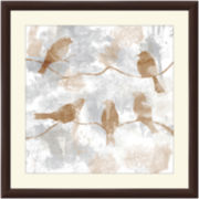 Birds on a Branch I Framed Wall Art