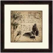 Butterflies and Daisies I Framed Wall Art