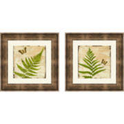 Fern Letters Set of 2 Framed Wall Art