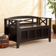 Schuyler Split Seat Storage Bench