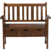 Wright Oak Storage Bench