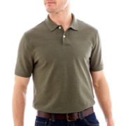 St. John's Bay® Legacy Heathered Short-Sleeve Piqué Polo