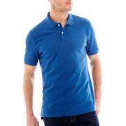 St. John's Bay® Legacy Heathered Short-Sleeve Piqué Polo