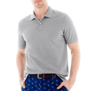 St. John's Bay® Heathered Short-Sleeve Piqué Polo