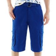 akademiks® Beekman Belted Cargo Shorts