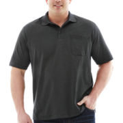 Van Heusen® Short-Sleeve Feeder Stripe Polo–Big & Tall