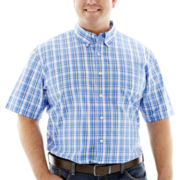 IZOD® Short-Sleeve Woven Shirt–Big & Tall