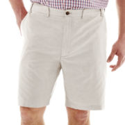 IZOD® Flat-Front Oxford Shorts–Big & Tall