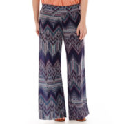 Living Doll Foldover Palazzo Pants - Plus
