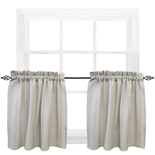 Park B. Smith® Eyelet Chambray Rod-Pocket Window Tiers