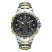 Seiko Mens Black Two Tone Bracelet Watch