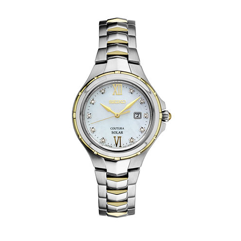 Seiko Womens Two Tone Bracelet Watch-Sut308