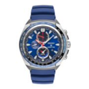 Seiko Mens Blue Strap Watch
