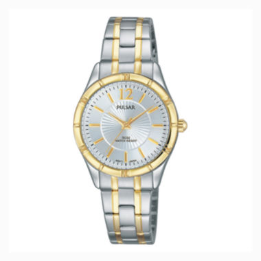 jcpenney.com | Pulsar Ladies Easy Style Collection Two Tone with Silver Dial PH8256