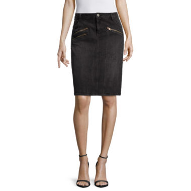 jcpenney.com | a.n.a® Front-Zip Mini Skirt