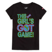 Puma® Short-Sleeve This Girl's Got Game Slogan Tee - Girls 7-16