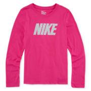 Nike® Long-Sleeve Pattern Training Tee - Girls 7-16