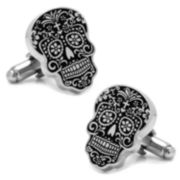 Day of the Dead Silver Cufflinks