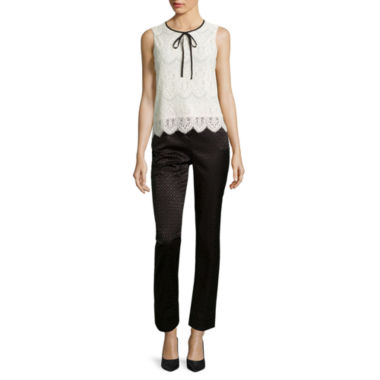 jcpenney.com | Worthington® Sleeveless Lace Tie-Neck Blouse or Slim-Fit Ankle Pants